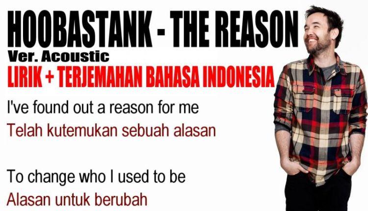 Lirik Lagu The Reason Hoobastank dan Terjemahnya