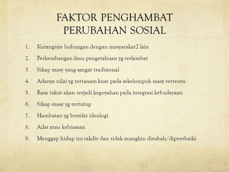 faktor perubahan sosial