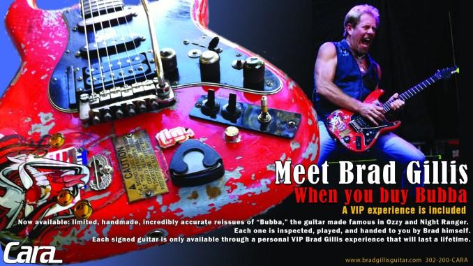 Red Fender Strat br Brad Gillis