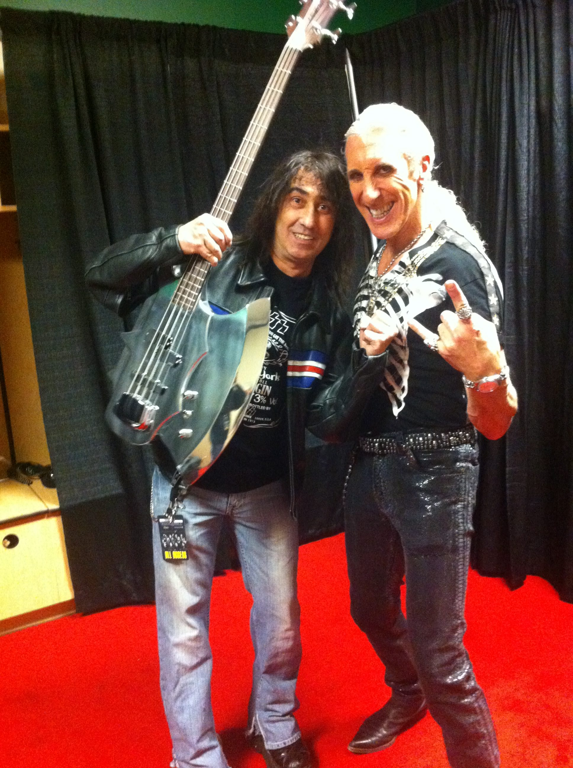 Dee Snider and Jim Cara with a Simmons Axe