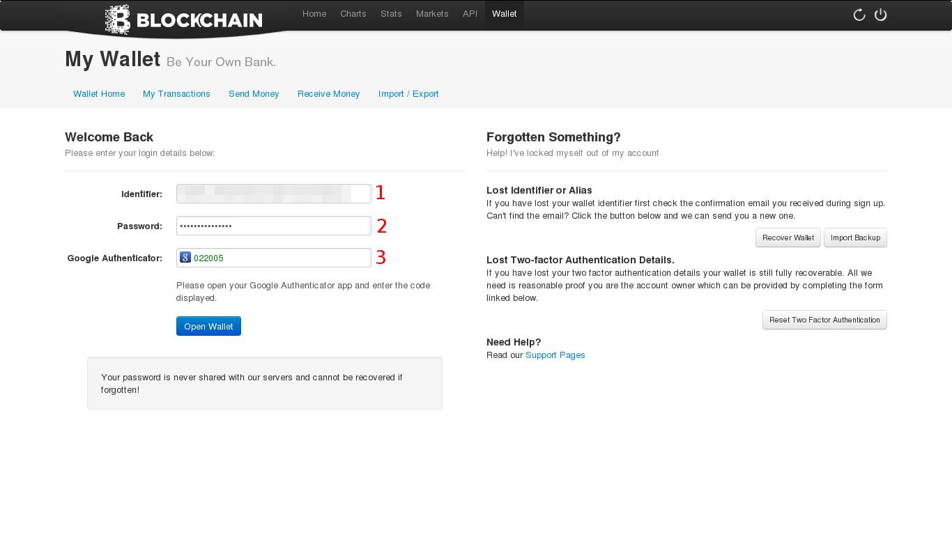 Log In Menggunakan Wallet ID