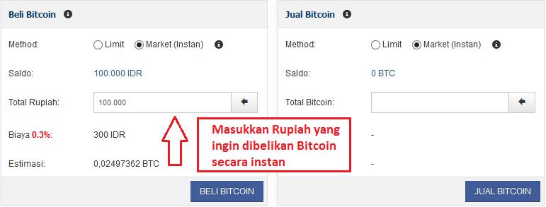 cara transaksi dengan Bitcoin