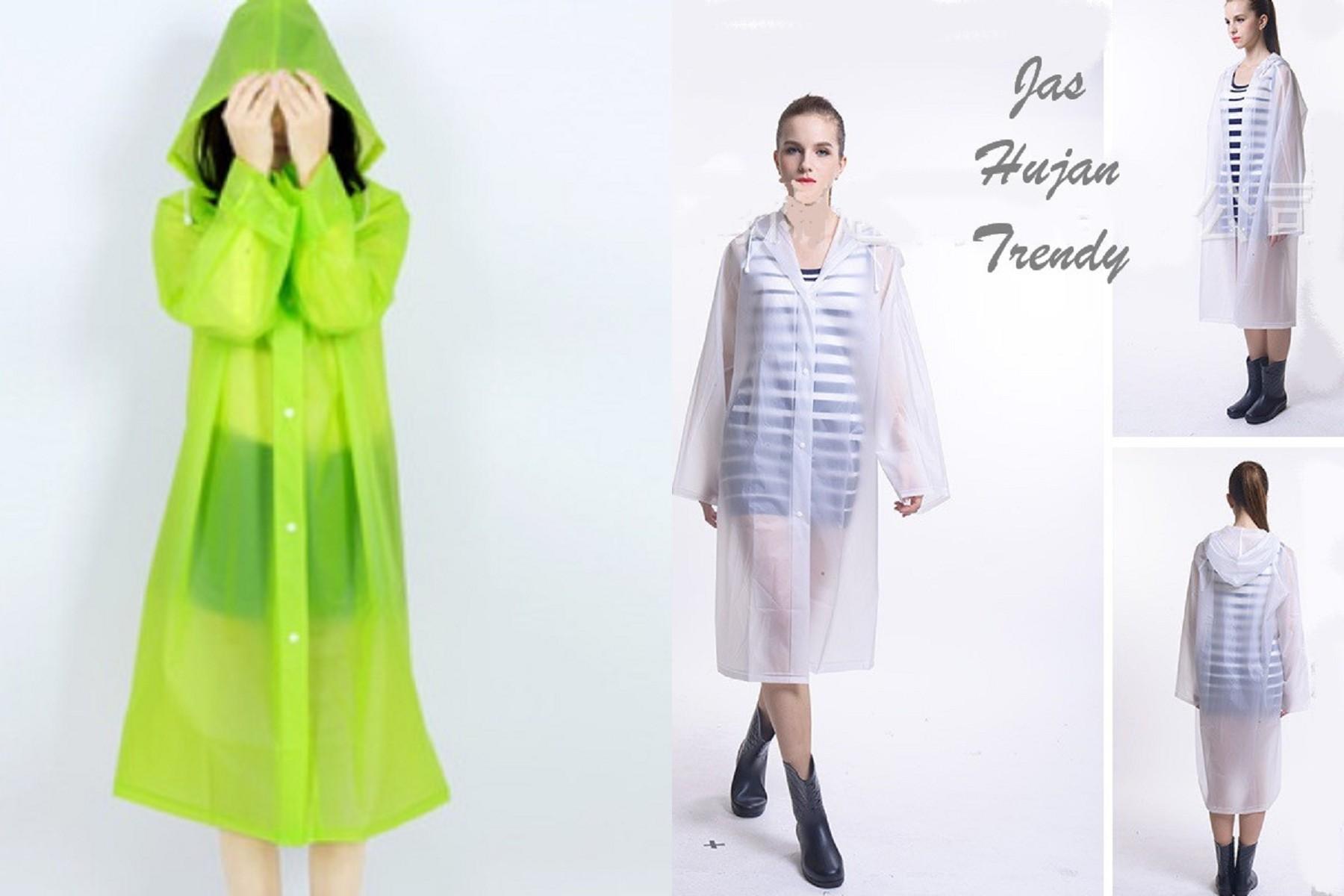 jas hujan wanita fashionable