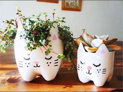 pot dari plastik bekas