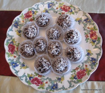 Mum's Rum Balls with Coconut
