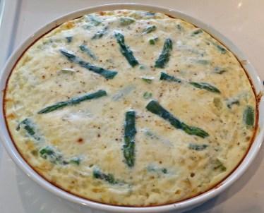 Low fat asparagus quiche