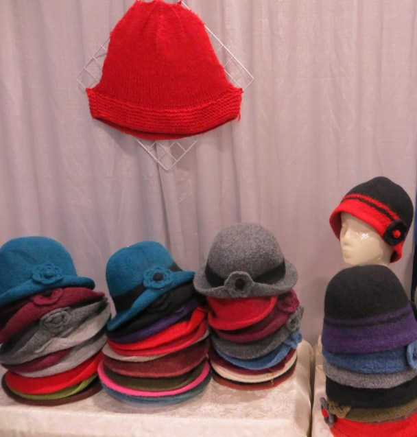 Hand knitted wool hats