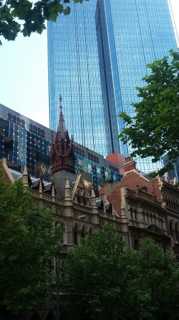 Old & New buildings blend