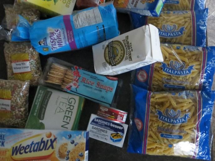 Dry pasta, Cereal, Biscuits, Crackers