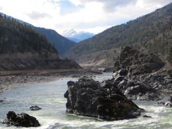 Fraser River in Fraser Canyon - summer