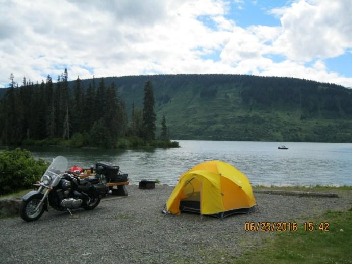 En route camping