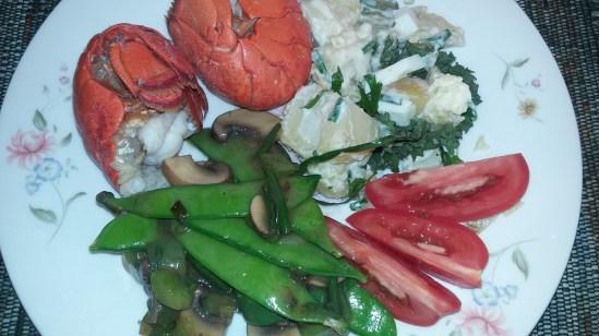 East Coast lobster & veggies