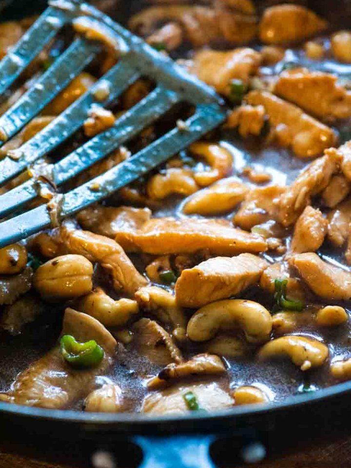 Easy Cashew Chicken with Jasmine rice