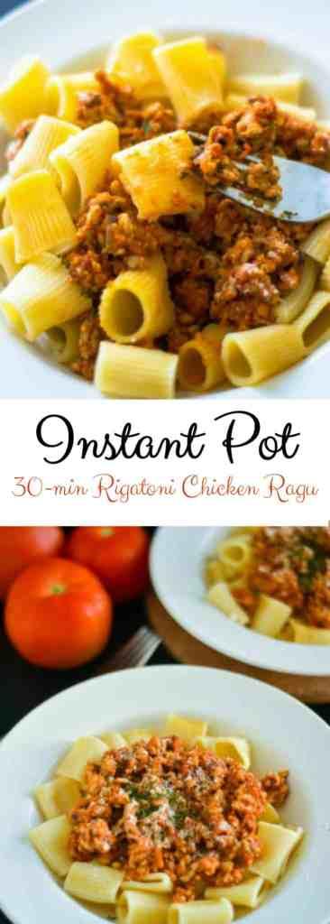 Instant Pot Rigatoni Pasta Ragu