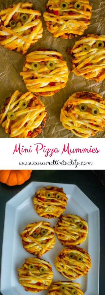Mini Pizza Mummies for Halloween
