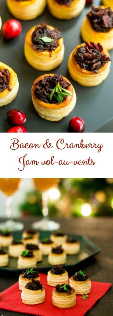 Bacon cranberry jam Christmas appetizer