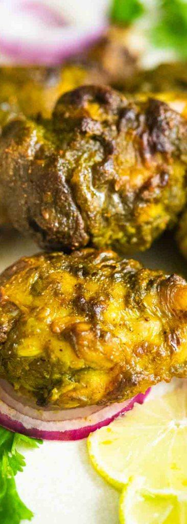 Chicken Hariyali Tangdi Kabab