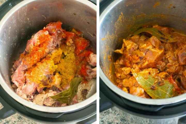 Instant Pot Lamb Bhuna an easy lamb curry