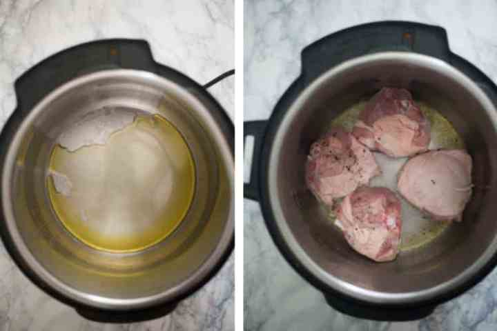Satuteing chicken in the Instant Pot