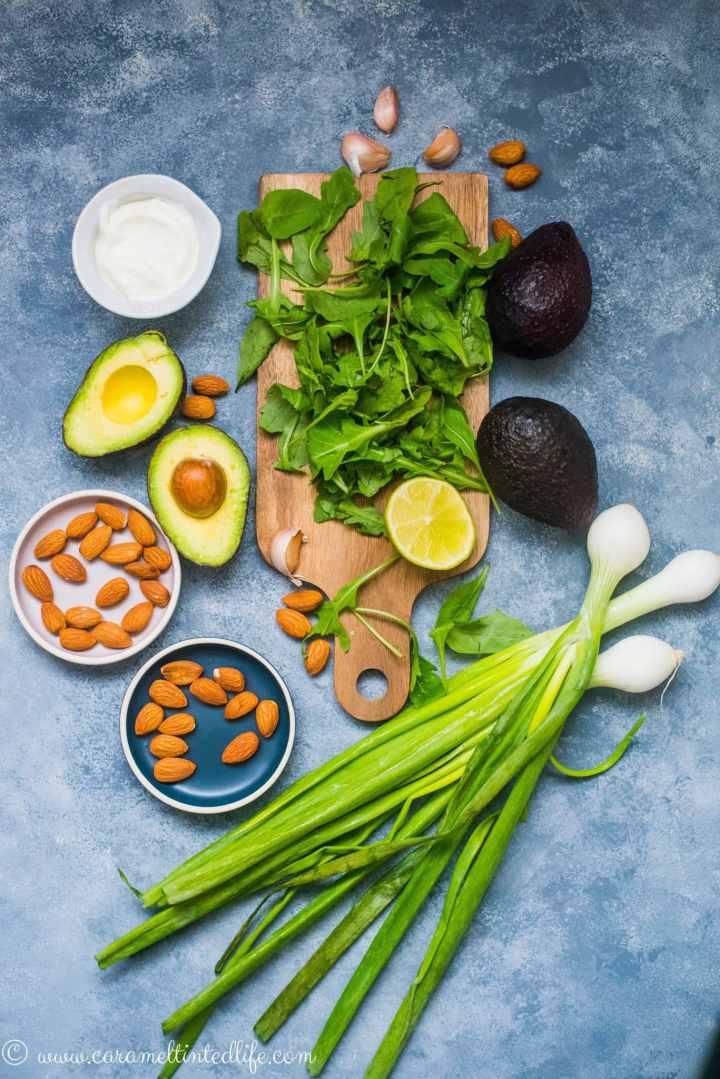 ingredients for green goddess chicken salad