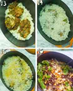 steo by step instructions for chicken biryani