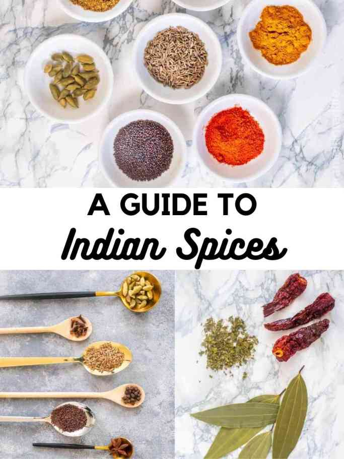 7 Indian spices, fresh herbs and whole spices for Indian cooking