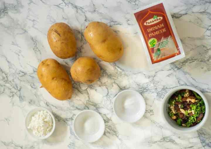 Ingredients used to make kofta balls