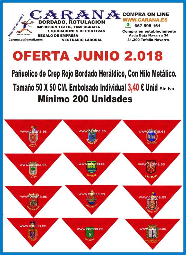 Pañuelicos de Fiestas . Sanfermines. Ayuntamientos. Clubs, Peñas. Empresas.