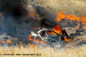 Accidente Angel Domenech - Foto Pepe Valenciano