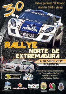 Cartel Rally Norte Extremadura 2015