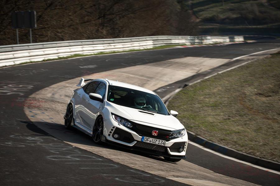 Honda Civic TypeR Nurburgring Time Attack April 2017 Worldwide Copyright: © Patrick Gosling, Chris Brown/ Beadyeye Filename: 170403_CivicTypeR_TimeAttack _275.cr2