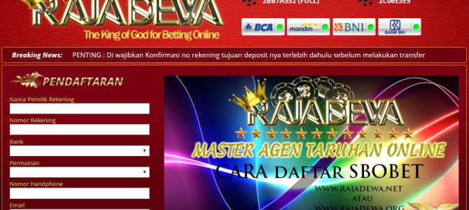 Video Tutorial Cara Daftar Sbobet RajaDewa