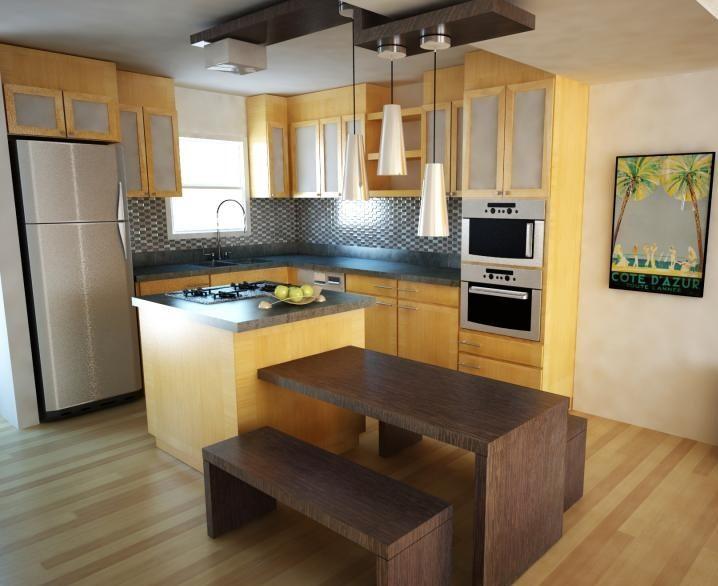 pengaturan perabot dalam membuat dapur minimalis sederhana