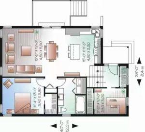 Konsep Rumah Minimalis Terbaru Type 45 dengan ruang makan dan ruang keluarga menjadi satu
