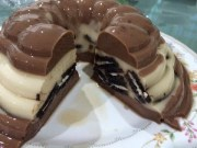 resep puding lapis coklat oreo delisa