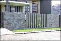 Gambar pagar batu alam rumah minimalis type 36