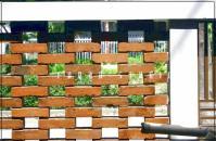 contoh pagar rumah minimalis dari batu bata
