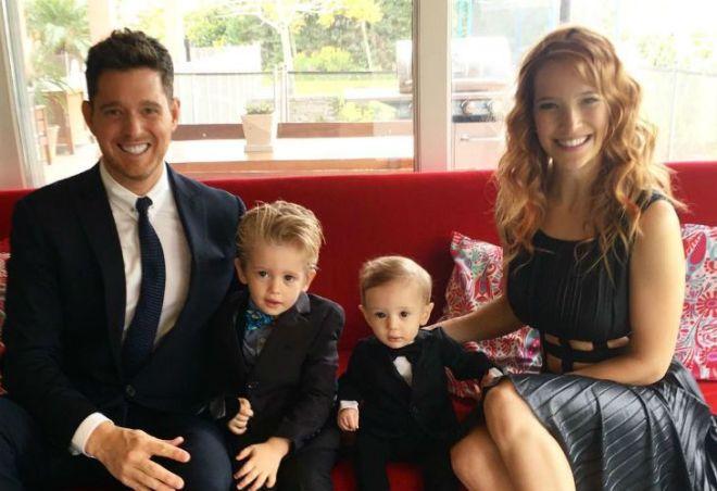 Luisana Lopilato Michael Buble y sus hijos