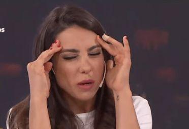 Cinthia Fernández, en un momento difícil.