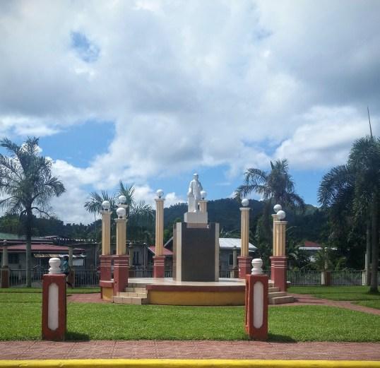 Statue of José Rizal in the plaza