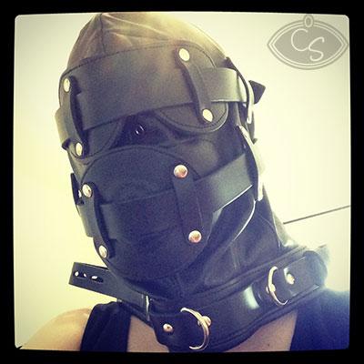 Honour Clothing BDSM Leather Lockdown Hood