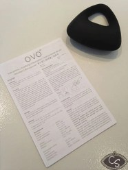 OVO B9 BLack vibrating couples cock ring