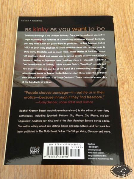 Best Bondage Erotica 2013 by Rachel Kramer Bussel Cara Sutra Pleasure Panel Review