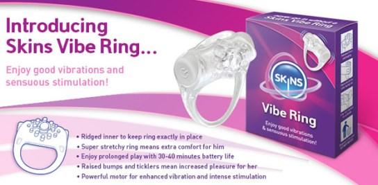 official skins condoms vibe ring banner