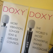 doxy massager poster at eroticon 2014