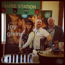 give lube kerri from lelo and doxy massager at eroticon 2014