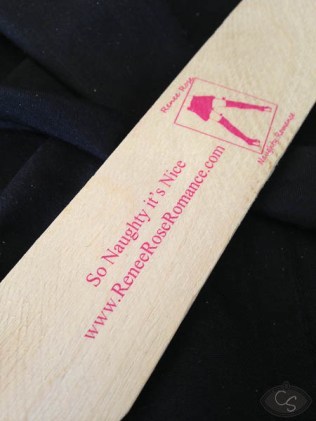 renee rose wooden paddle business card eroticon 2014