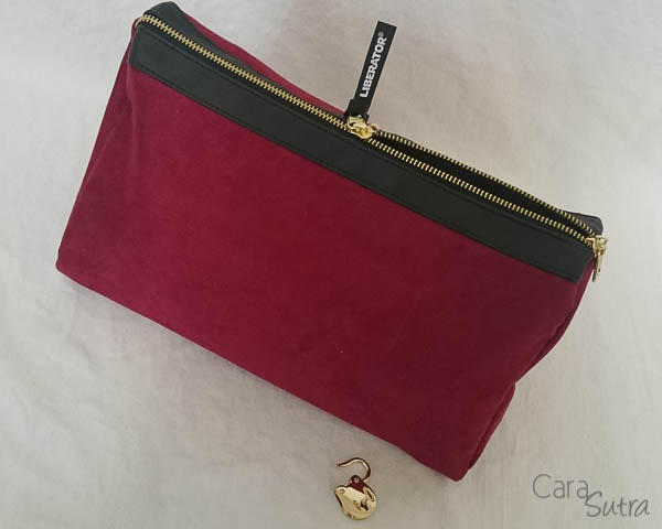 liberator red lockable sex toys storage bag - cara sutra review-10