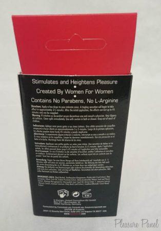 System JO 12 Volt Female Arousing Serum Review Pleasure Panel Chili Crimescene