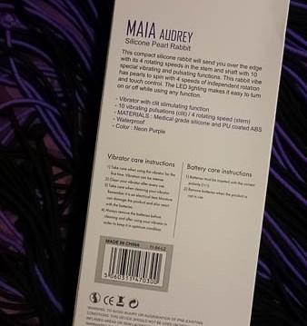 Maia Audrey Silicone Rabbit Vibrator Giveaway Cara Sutra-3